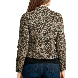 Nine West Sarah Denim Animal Print Jacket 🧥
